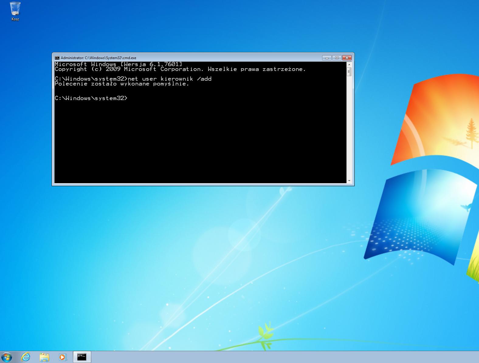 Systemy Operacyjne Tworzenie Konta Użytkownika Cli Windows